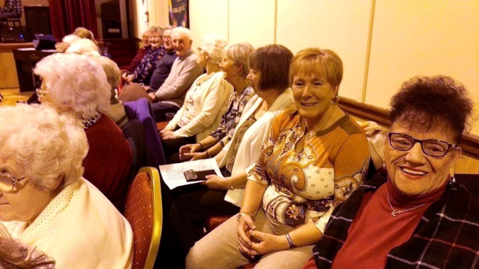 People attending the Farewell Party for Rev. Graham Crawford at St James' Church, Lossiemouth - 06 February 2016