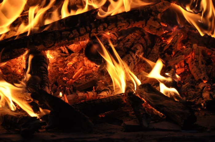 Open Fire - Burning Wood and Embers