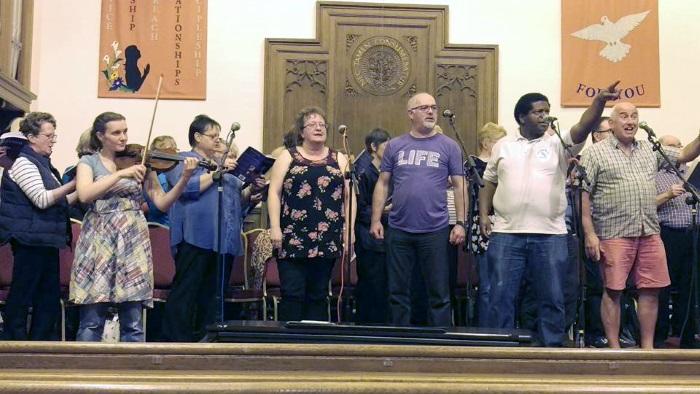 "Rehearsal of Roger Jones' Musical ""Barnabas"" at St James' Church, Lossiemouth - September 2017"