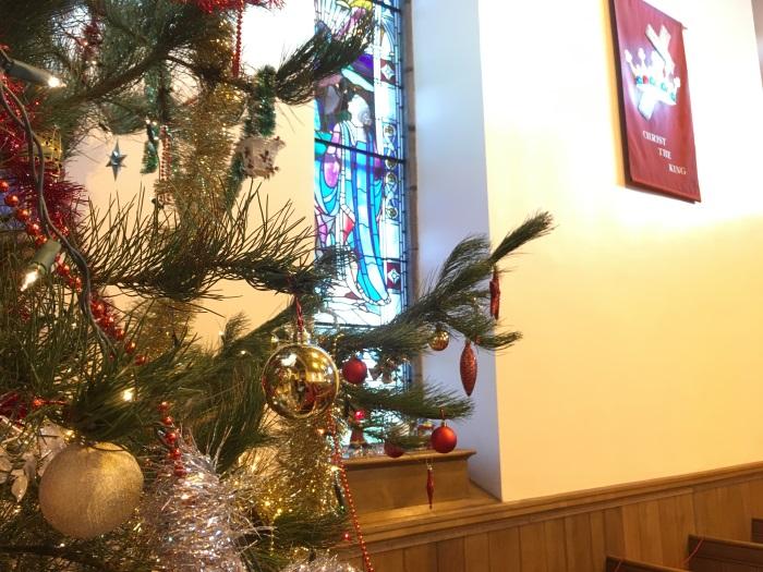 Christmas Tree at St James' Church, Lossiemouth, 2017