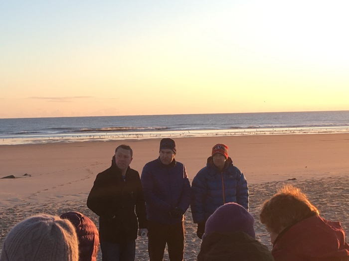 Some of the local Ministers at the Easter Sunday Sunrise Service 2018, East Beach, Lossiemouth, Moray