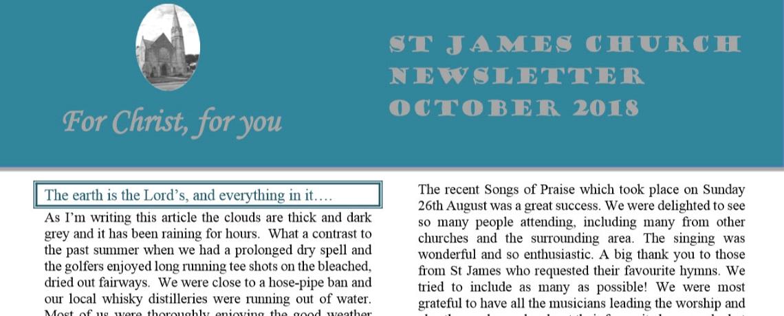 St James Church Newsletter – October 2018