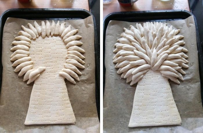 Making a baked Wheat Sheaf: Stages 3 and 4