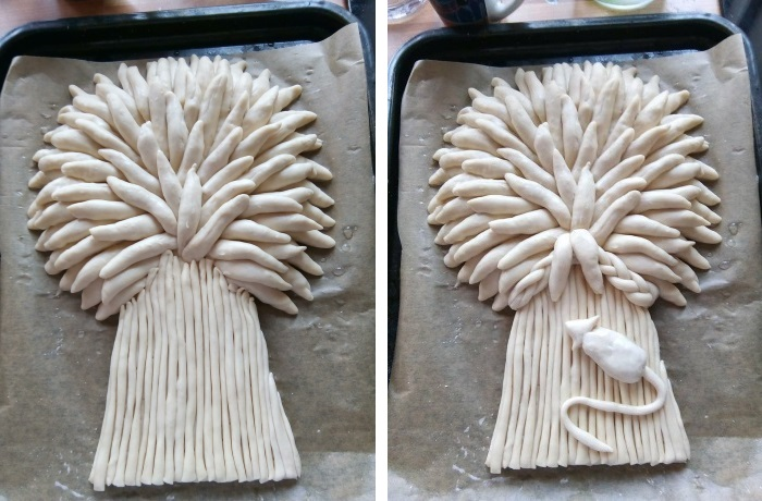 Making a baked Wheat Sheaf: Stages 5 and 6
