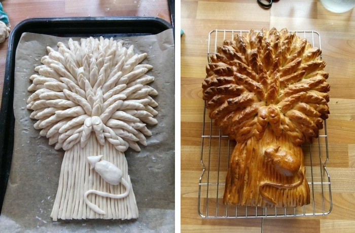 Making a baked Wheat Sheaf: Stages 7 and 8