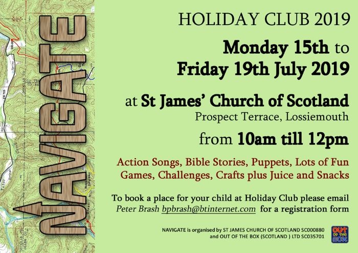 Navigate Holiday Club Postcard Flyer - Details of Club