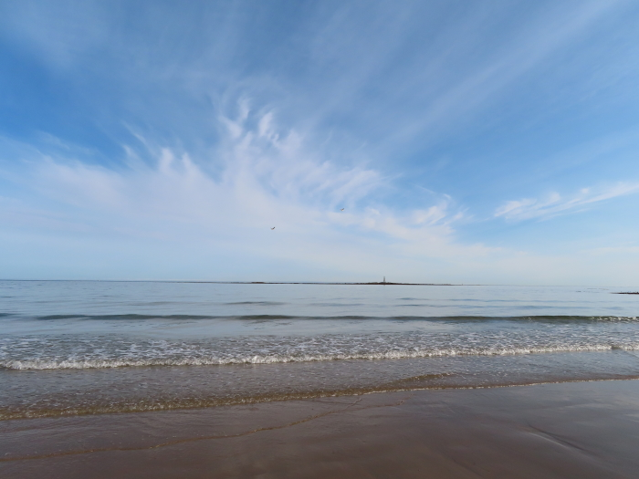 Very-Low-Tide-At-Lossiemouth-West-Beach-In-Sunshine