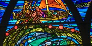 The-Miraculous-Draught-Stained-Glass-Detail-St-James-Church-Lossiemouth